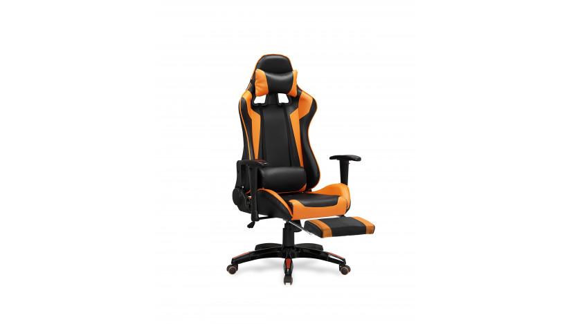 DEFENDER-2 Biuro Kėdė Juoda oranžinė