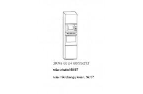 Spintelė COSTA MDF DKMs60 įmontuojamai orkaitei + mikrobangei