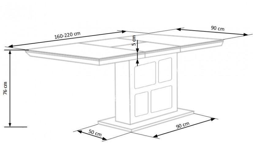 DOMUS Stalas išskleidžiamas 160-220 cm
