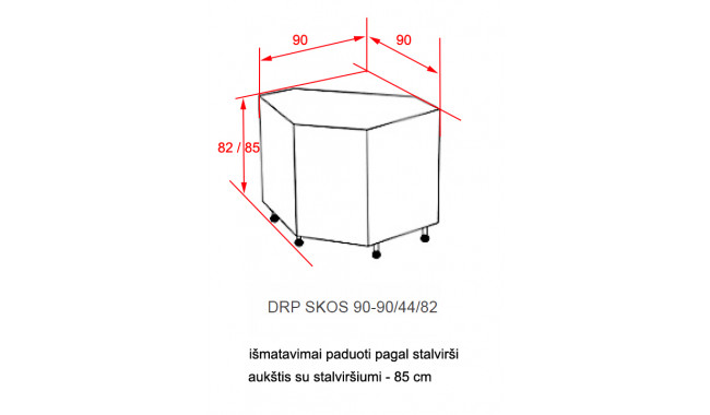 Spintelė ANGEL DRP 90x90 SKOS
