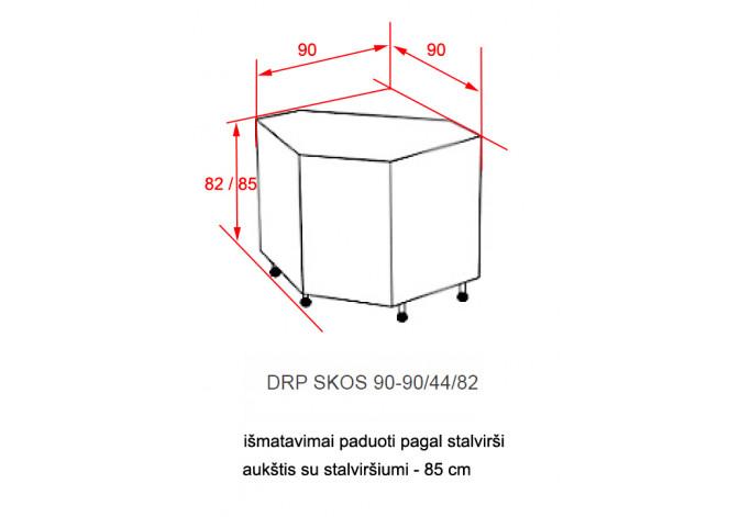 Spintelė ROMINA MDF DRP 90x90 SKOS