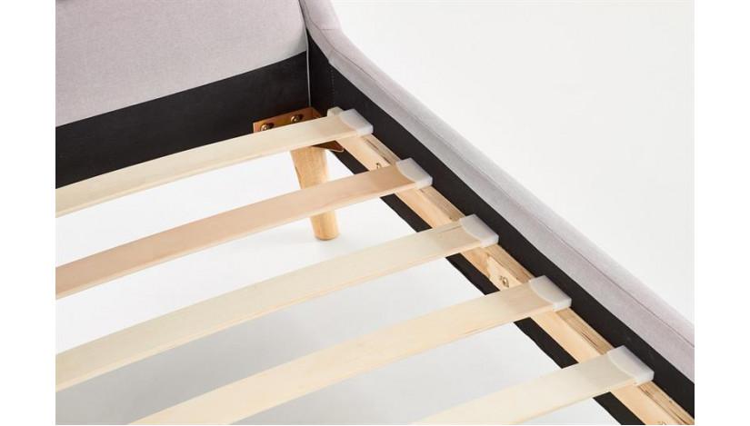 ELANDA 140 Miegamojo lova šviesiai pilka