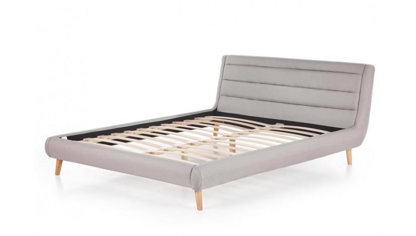 ELANDA 160 Miegamojo lova šviesiai pilka