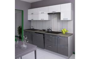 Grey Bianka 240 cm virtuvės baldų komplektas
