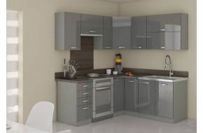 Grey 190/170 Virtuvės baldų komplektas