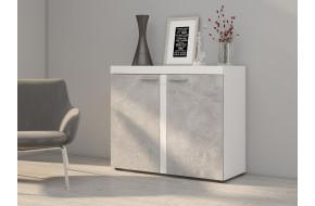 rumba komoda 2F balta betonas
