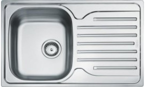 Kriauklė įleidžiama į stalviršį 76x43,5cm ES760 Kriauklė