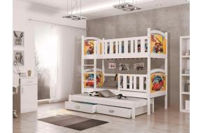 TAMI 3 kolor Trivietė Lova 80 x 190