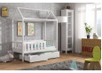 Domi lova namelis 70 x 140 Balta su stalčiais
