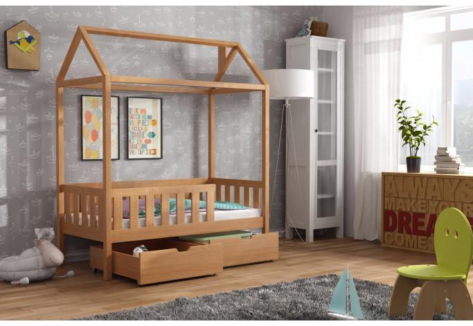 Domi lova namelis 80 x 160 su stalčiais