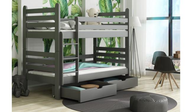 PATRYK 200 x 90 cm Dviaukštė lova