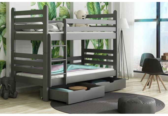 PATRYK 160 x 80 cm Dviaukštė lova