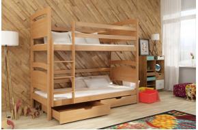 Nikus 90 x 190 cm Dviaukštė lova