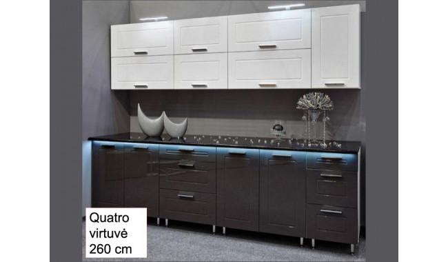 QUATRO 260 cm Virtuvės baldų komplektas