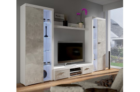 Rumba XL Sekcija balta betonas