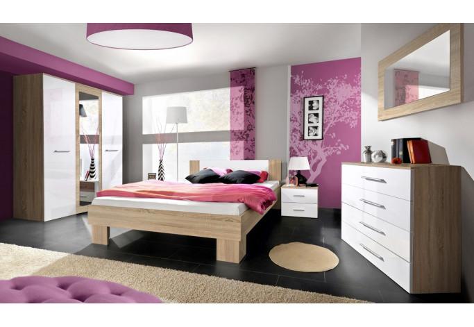 Vicky II (su lova 140 cm) Miegamojo baldų komplektas