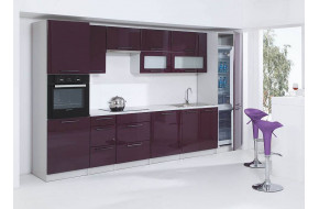 VIOLET 360 cm Virtuvės baldų komplektas