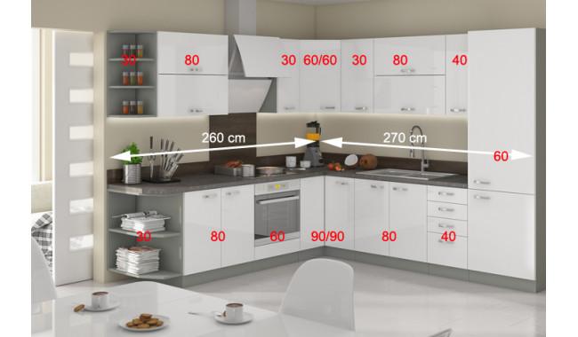 Virtuvės baldų komplektas Bianka MDF kampinis