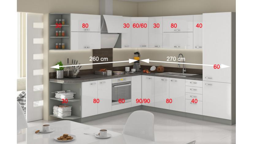 Bianka MDF 530 Kampinis Virtuvės baldų komplektas
