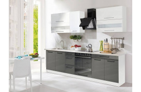 Creativa 270cm Virtuvės baldų komplektas Pilka