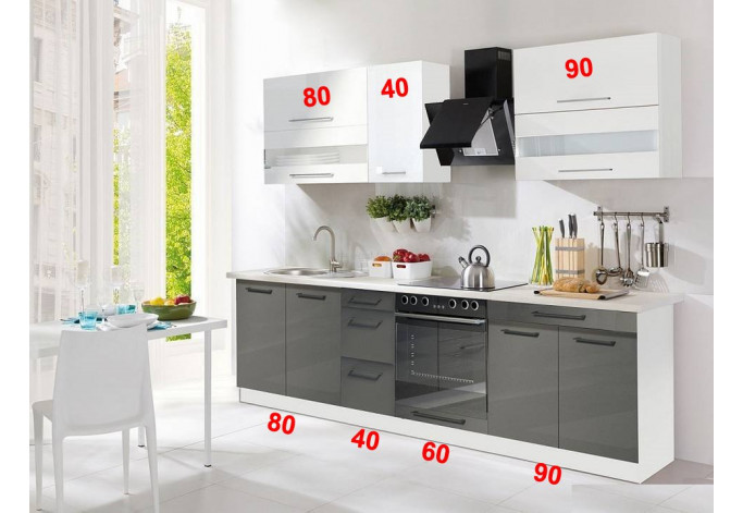 Creativa 270cm Virtuvės baldų komplektas