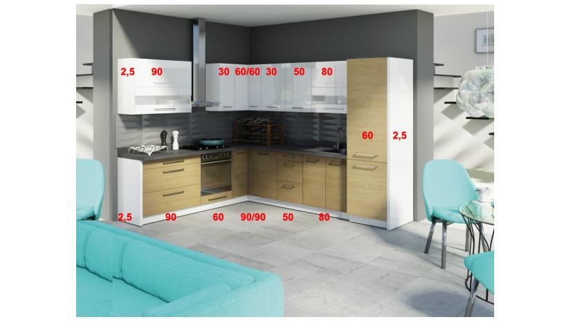 Creativa Virtuvės baldų komplektas Ąžuolas