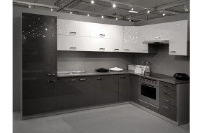 Virtuvės baldų komplektas Bianka / Grey kampinis 480