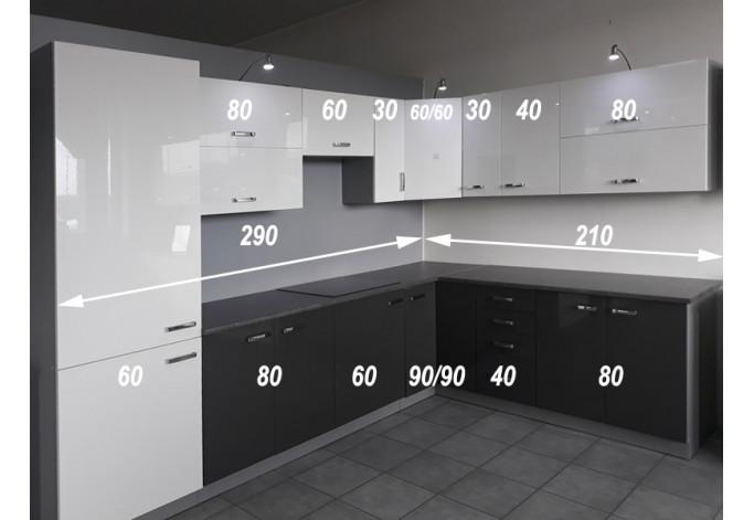 Bianka / Grey 500 Virtuvės baldų komplektas