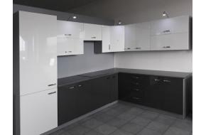 Virtuvės baldų komplektas Bianka / Grey kampinis 500