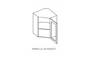 Spintelė COSTA RICA MDF WR 60w / stiklas permatomas
