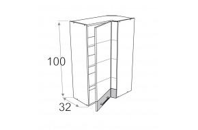 70x40 cm pakabinama kampinė spintelė, aukštis 100 cm, Premium Line WRL/100 40x70 P/L