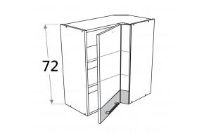 70x40 cm pakabinama kampinė spintelė, aukštis 72 cm, Premium Line WRL/72 40x70 P/L