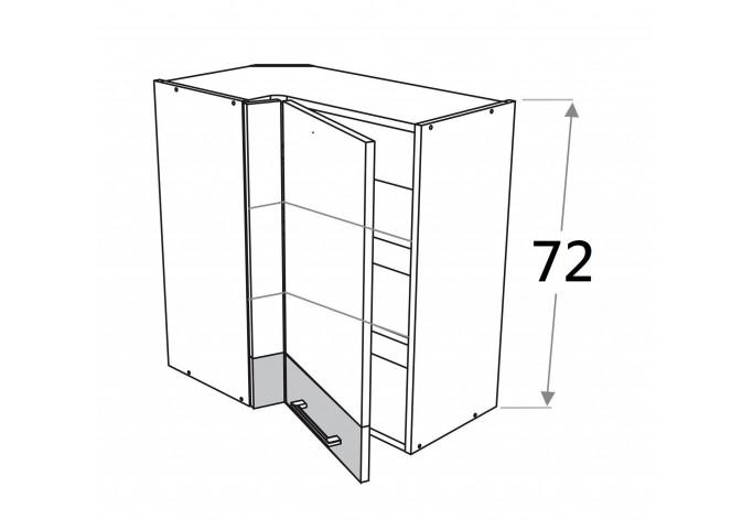 70x40 cm pakabinama kampinė spintelė, aukštis 72 cm, Premium Line